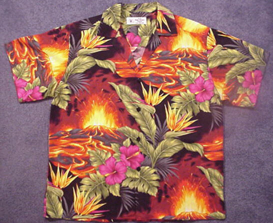 This is a Fully Engineered Magic Madgie Original Aloha Shirt - Click Here for Larger Image